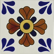 Flor la Cruz Talavera Tile