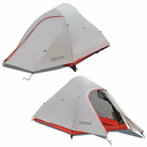 FLYTOP Ultralight Backpacking Hiking Tent 20D Silicone Camping Tent 1 2 Persons