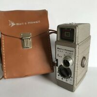 Vintage Bell & Howell One Nine 8mm Film Movie Camera w/ Cowhide Leather Case