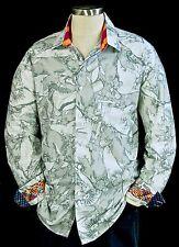 Robert Graham NWT $398 Limited Edition Grey Abstract Carnival Shirt Large
