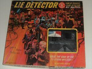 Vintage LIE DETECTOR Game 1960 Mattel 100% Complete *Works