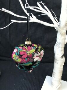 Luxury Glass & Fabric Valentine Heart Shape Hanging Decoration Love Wedding