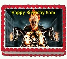Ghost Rider Edible Frosting Cake Topper 1/4 Frosting Icing sheet
