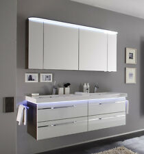 Pelipal Badmöbel BALTO 12 Glasfront Optiwhite LED Doppelwaschplatz 148 cm NEU