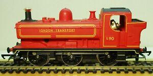 Hornby R048 Class 57xx 0-6-0 L90 London Transport Red 00 Gauge Mint Condition T
