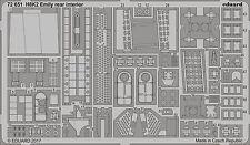 Eduard 1/72 Kawanishi H8K2 Type 2 Emily Rear Interior # 72651