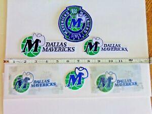 Vintage NBA  Dallas Mavericks  Old School Logos Patches 6 Pc. Lot