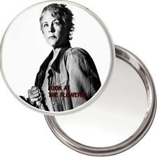 """Unique Miroir de Sac à Main Image Carol Peletier Walking Dead """" Look au Fleurs """""""