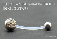 PTFE Piercing Labret Stecker Lippenpiercing Bioflex 6-16mm klar metallfrei