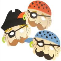 6 Foam Pirate Masks - Pinata Toy Loot/Party Bag Fillers Wedding/Kids