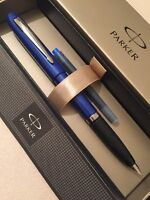 PARKER REFLEX BLACK CT MEDIUM NIB FOUNTAIN PEN-GIFT BOX-NEW OLD STOCK.