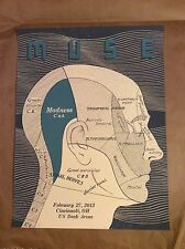 2013 Muse Poster Cincinnati Oh 2/27/13 Signed And Numbered Only 65 Made!