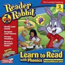 Reader Rabbit Learn to Read with Phonics Preschool & Kindergarten   Brand New