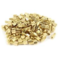 100pcs Brass Hex Standoff Spacer Screw Female to Male 5mm+6mm M3 3mm L1N2