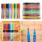 12pcs Waterproof Colorful Set Fine Twin Tip Permanent Marker Pen Oily Pens