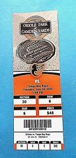 Baltimore Orioles Vs Tampa Bay Rays 2012 MLB Ticket w/Stub Tuesday 7/24/2012