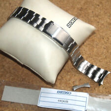 Seiko 44Q6JB 19mm Stainless Steel Oyster Style Bracelet Safety Clasp Curved Ends