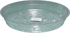 """Plant Pot Saucer Clear Collect Water Drainage and Soil Spillage 6"""" Pack of 25"""