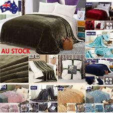 3 Size Warm Coral Velvet Blanket King Queen Bed Sofa Blanket Flannel Plush Throw