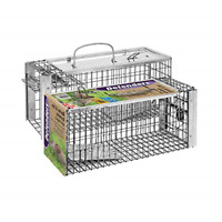 Defenders Rat and Squirrel Cage Trap Humane, Easy to Bait and Set, Long-Lasting