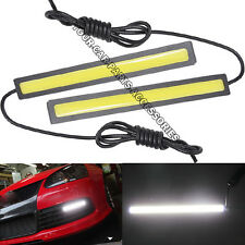 2PCS 100 LED Car DRL Day Driving lamp Waterproof Daytime Running Light Fog Light