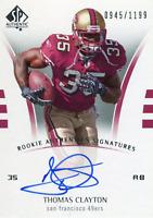 Thomas Clayton Autographed 2007 Upper Deck SP Rookie Card