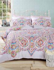 motifs cachemire floral Mélange de coton Sarcelle réversible simple 3 pièces
