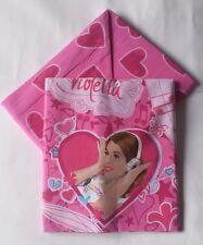 Completo lenzuola Disney Violetta Love Singolo una piazza 100% cotone A175
