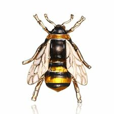 Fahion Enamel Bumble Gold Bee Crystal Brooch Pin Costume Badge Womens Jewellery