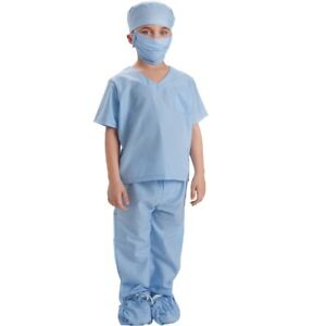 Dress Up America Blue Doctor Scrubs Toddler Costume Kids Pretend Play Outfit