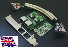 Mini PCI Express PCIe Gigabit Ethernet x2 Network Adapter NIC Card