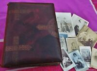 Album photo ancien vintage Boucles 1898 Art Nouveau France Vintage antique photo