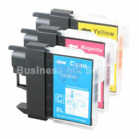 3 COLOR LC65 Ink Set for Brother MFC-5890CN MFC-5895CW MFC-6490CW MFC-6890CDW