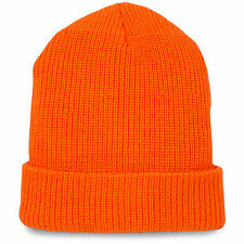 Commando Work Crew Hi-Vis Hiking Acrylic Winter Warm Beanie Hat Watch Cap Orange