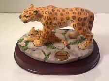 ZoobabeeZ Leopard w/Baby Figurine Le Collector Albert E Price Limited Edition