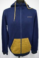 SW888 ANIMAL MEN'S NAVY KNIT SWEATER JUMPER HOODIE  SIZE L