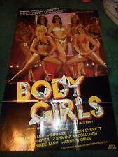 BODY GIRLS - ORIGINAL FOLDED POSTER - 1983 - HYAPATIA LEE/ERICA BOYER