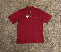 Charles River Country Club Mens Polo Golf Shirt Medium Embroidered Cranberry Red