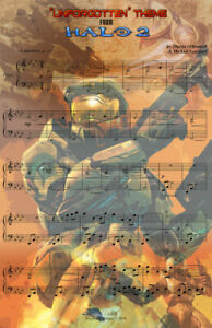 Halo II Master Chief Music Gamer 11 x 17 High Quality Poster