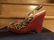 Womens shoes, open toe, floral, wedges, Size 39