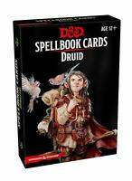 Dungeons and Dragons Druid Spellbook Spell Deck Revised Board Game Roleplaying