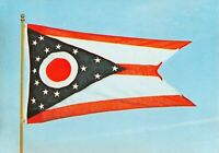 State Flag of Ohio Vintage Postcard A01