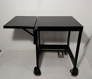 Vintage TIFFANY Industrial Metal Drop Leaf Rolling Typewriter Desk Stand Table