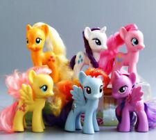 hot 6PCS My Little Pony Mini Figures Rainbow Dash Celestia toy Figures Gift