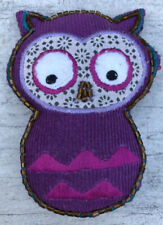 Retractable sewing tape measure in an owl design pouch