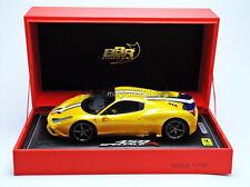 BBR 2014 Ferrari 458 Speciale A Closed Paris Show 2014 Yellow LE of 99 1/18 New!