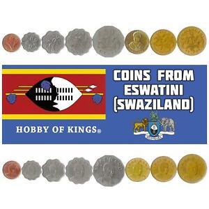 8 COINS. ESWATINI - SWAZILAND: 1, 5, 10, 20, 50 CENTS 1,2,5 EMALANGENI 1995-2010