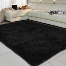 Large Rectangle Faux Sheepskin Sparkling Fur Rug Fluffy Bed Floor Carpet Home UK