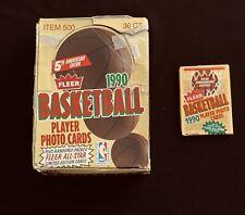 1 Unopened 1990 Fleer Basketball Pack from Box 🔥 Possible Michael Jordan SP 🔥