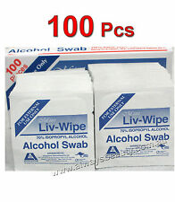 Skin Swabs Wipes 70% Isopropyl Alcohol Wipe Skin Cleansing LIV-WIPE 100 Pads